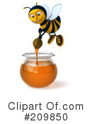Royalty-Free (RF) Bee Character Clipart Illustration #209850