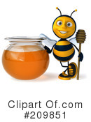Bee Character Clipart #209851