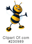 Bee Character Clipart #230989 by Julos