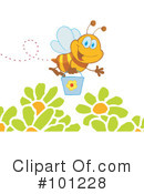 Royalty-Free (RF) Bee Clipart Illustration #101228