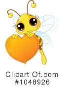 Royalty-Free (RF) Bee Clipart Illustration #1048926
