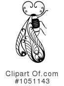 Royalty-Free (RF) Bee Clipart Illustration #1051143