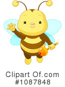 Royalty-Free (RF) Bee Clipart Illustration #1087848