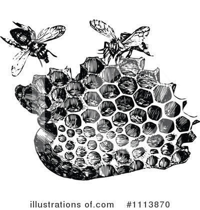 Bees Clipart #1113870 by Prawny Vintage