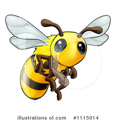 Bee Clipart #1115014 by AtStockIllustration