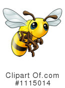 Royalty-Free (RF) Bee Clipart Illustration #1115014