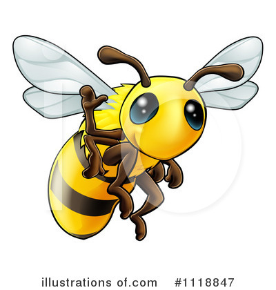 Bee Clipart #1118847 by AtStockIllustration