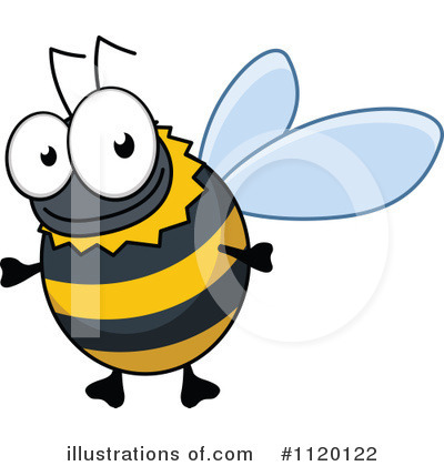 Bee Clipart #1120122 by Vector Tradition SM