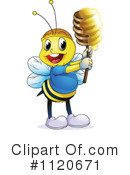 Royalty-Free (RF) Bee Clipart Illustration #1120671
