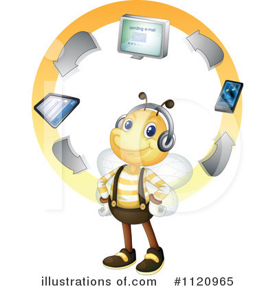 Royalty-Free (RF) Bee Clipart Illustration by Graphics RF - Stock Sample #1120965