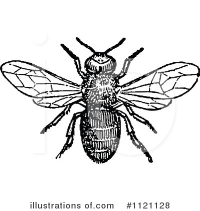 Bees Clipart #1121128 by Prawny Vintage