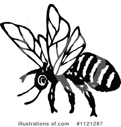 Bees Clipart #1121287 by Prawny Vintage