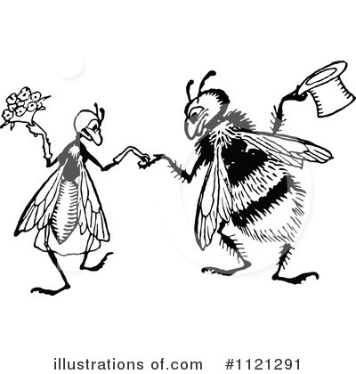 Royalty-Free (RF) Bee Clipart Illustration by Prawny Vintage - Stock Sample #1121291