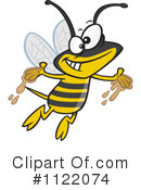 Royalty-Free (RF) Bee Clipart Illustration #1122074