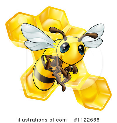 Bee Clipart #1122666 by AtStockIllustration