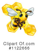 Royalty-Free (RF) Bee Clipart Illustration #1122666