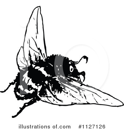 Bee Clipart #1127126 by Prawny Vintage