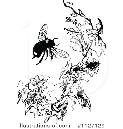 Bees Clipart #1127129 by Prawny Vintage