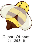 Royalty-Free (RF) Bee Clipart Illustration #1129346