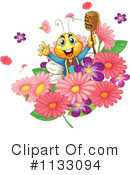 Royalty-Free (RF) Bee Clipart Illustration #1133094