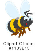 Royalty-Free (RF) Bee Clipart Illustration #1139213