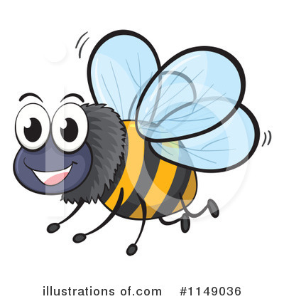 Bee Clipart #1149036 by Graphics RF