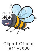 Royalty-Free (RF) Bee Clipart Illustration #1149036