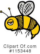 Bee Clipart #1153448 by lineartestpilot
