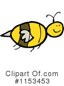 Bee Clipart #1153453 by lineartestpilot