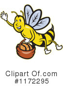 Royalty-Free (RF) Bee Clipart Illustration #1172295