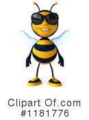 Royalty-Free (RF) Bee Clipart Illustration #1181776