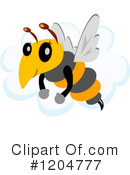 Royalty-Free (RF) Bee Clipart Illustration #1204777
