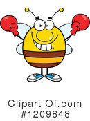 Royalty-Free (RF) Bee Clipart Illustration #1209848