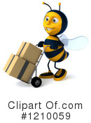 Bee Clipart #1210059 by Julos