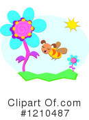 Royalty-Free (RF) Bee Clipart Illustration #1210487