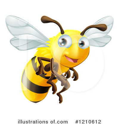 Bee Clipart #1210612 by AtStockIllustration