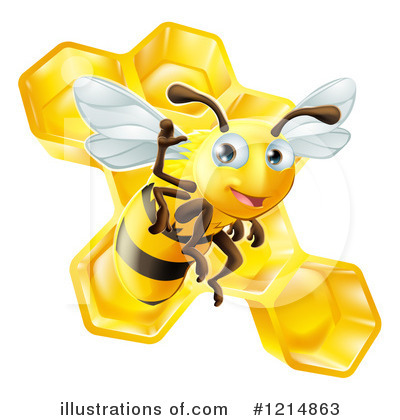 Bee Clipart #1214863 by AtStockIllustration