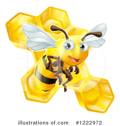 Royalty-Free (RF) Bee Clipart Illustration by AtStockIllustration - Stock Sample #1222972