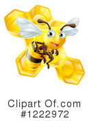 Bee Clipart #1222972 by AtStockIllustration