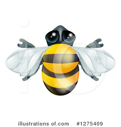 Bee Clipart #1275409 by AtStockIllustration