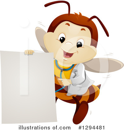 Bee Clipart #1294481 by BNP Design Studio