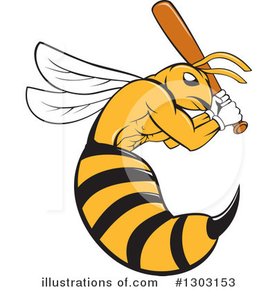 Wasp Clipart #1303153 by patrimonio