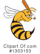 Royalty-Free (RF) Bee Clipart Illustration #1303153