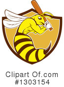 Royalty-Free (RF) Bee Clipart Illustration #1303154