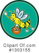 Royalty-Free (RF) Bee Clipart Illustration #1303155