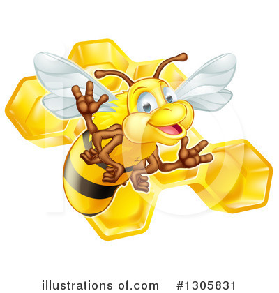 Bee Clipart #1305831 by AtStockIllustration