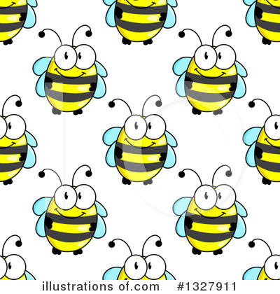 Bee Clipart #1327911 by Vector Tradition SM