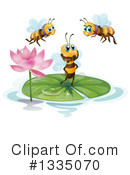 Royalty-Free (RF) Bee Clipart Illustration #1335070