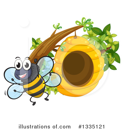 Bee Clipart #1335121 by Graphics RF