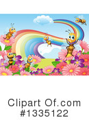 Royalty-Free (RF) Bee Clipart Illustration #1335122